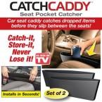 catch caddyที่เก็บของอเนกประสงค์ข้างเบาะนั่งรถยนต์ป้องกันของหล่นข้างเบาะป้องกันเศษผงหล่นข้างเบาะรถยนต์